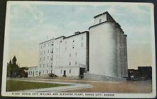 Postcard Dodge City Milling and Elevator Plant Dodge City Kansas Vintage Color