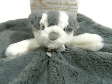 Blankets and Beyond Security Blanket Puppy Gray White Lovey Dog Baby New
