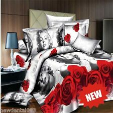 3D Marilyn Monroe comforter 4piece set pillow shams Ghost queen size bedding