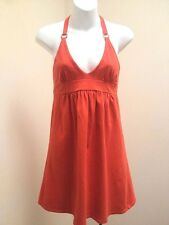 Victorias Secret Moda International XS Dress Orange Halter Sundress Shelf Bra