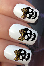 NAIL ART SET #345 x24 SKULL LEOPARD ANIMAL PRINT WATER TRANSFERS DECALS STICKERS