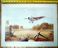 US Air Force Lithograph Series set #22 Poster. A Flight of the Albree Scout