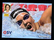 Nina Dittrich Autogrammkarte Original Signiert Schwimmen+A 124086