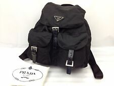 Authentic Prada Nylon Backpacks Shoulder bag Black 7A100340m