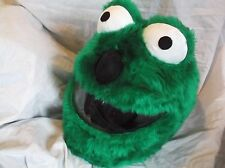 MOTORBIKE FUNNY HEEDS CRAZY CRASH HELMET COVERS MOTORCYCLE  COVER GREEN  ELMO