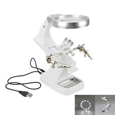 LED Helping Hand Clip Magnifying Soldering IRON STAND Lens Magnifier Clamp Tool