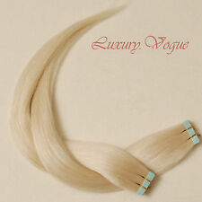 "20""salon-grade Remy A+ European Hair Seamless Tape-in Extension #60(Pale Blonde)"