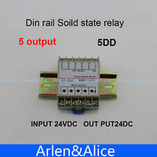 5DD 5 Channel Din rail SSR input output 24VDC single phase DC solid state relay
