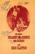 ERIC CLAPTON GEORGE HARRISON REPRO SIGNED DELANEY & BONNIE POSTER . NOT CD DVD