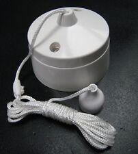 Zugschalter 6A Badezimmer Einbau Zugschalter mit Schnur Ein Aus Schalter Weiß