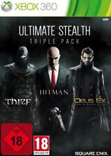 Xbox 360 Ultimate Stealth Triple Pack Thief Hitman Absolution Deus Ex Neuwertig