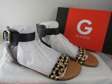 NIB G by Guess Keeper Leopard Print Studded Ankle Strap Sandals Size 8 MSRP $49