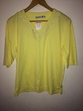 Poppy Cotton/Polyester Mix T Shirt Top Size 14 Yellow  R9175