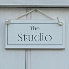 THE STUDIO, ELEGANT SHABBY CHIC SIGN, HOUSEWARMING GIFT