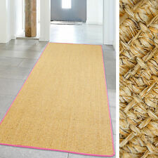 Carpet High Quality Sisal Runner up Natural fibers with colored Black 100x240 cm