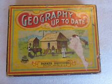 Vintage Geography Up To Date game by Parker Brothers Salem, MA rare item