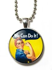 Magneclix magnetic pendant-Rosie the Riveter - We Can Do It!