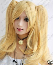 HOT New Long milk blonde cosplay party wig + 2 Ponytail +GIFT KK015