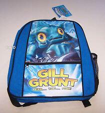 Skylanders Spyros Adventure Gill Grunt Boys Blue Black Printed Backpack New