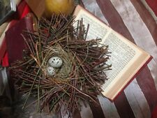 Birds Nest Speckled Eggs Shabby Chic Large 9""