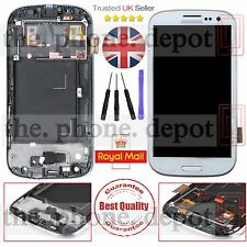 For White Samsung Galaxy S3 I9300 LCD Display Digitizer & Touch Screen & Frame