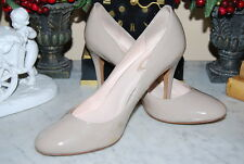 ELIE TAHARI BEIGE PATENT LEATHER CLASSIC HIGH HEEL WOMEN'S SHOES SIZE 40.5 OR 10