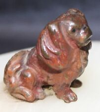 Antique Vienna Bronze Cold Painted Angry Pekinese Dog on Onyx Trinket Dish c1890