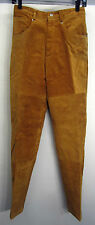 vtg Tillman Western Pants Brown Suede Leather high rise sz 8