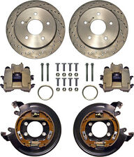 "CURRIE DISC BRAKE KIT,REAR PARKING,BIG FORD NEW,11"" DRILLED ROTORS,5x5 1/2"""