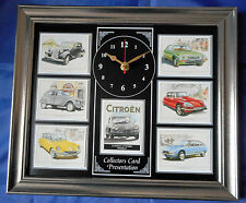Classic Citroen Models Stunning Collector Cards Wall Clock 2CV/DS/GS