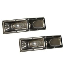 Misty Harbor Smoke Chrome 19 Inch Plastic Pontoon Boat Dock Light (Set of 2)