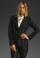 Gwen Stefani L.A.M.B Plaid Window Pane Blazer size US 8 NEW WOW !