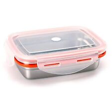 Food Storage Container STENLOCK Stainless Steel Side lunch Box Rectangle no 3