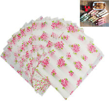 Flower Print Wedding Xmas Gift Candy Wrapping Tissue Wax Paper 50 Sheets