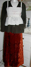 Tarax Acum Samt Rock Velvet Skirt Long Anticorange Nostalgie size: XL Neu