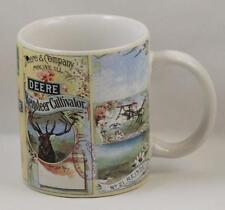 John Deere Reindeer Cultivator Farming Collectible Coffee Mug Cup