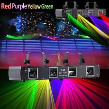 DMX512 Red Green Yellow Purple Laser Light 4beams 420mW DJ Show Stage Bar Disco