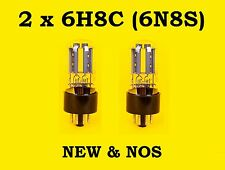 2 x 6N8S = 6SN7 = 1578 tubes || NEW || NOS || Russian double triodes