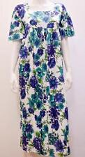 Plus Size Boho de estilo vintage y retro Floral Vestido Midi Túnica suelto azul 18 20 22 24
