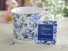 La reine victoria fine bone china footed palace mug