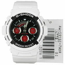 Original Casio G-Shock AW591SC-7A Analog Digital Sporty Rugged White Red Watch