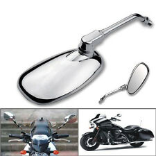 Universal Oval Custom Motocycle Rearview Mirror Side Mirrors Bikes Scooter