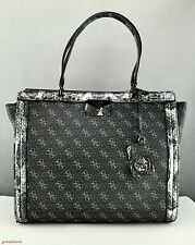 Free Ship USA Chic Handbag GUESS Satchel Tote Taree Ladies Onyx Prime Bag