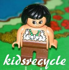 Lego DUPLO PREHISTORIC Caveman (Cave Man) Family Figure (Minifig) MUM WOMAN LADY