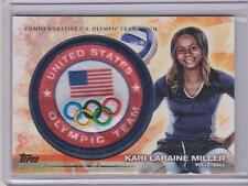 2012 TOPPS OLYMPIC KARI LARAINE MILLER TEAM PATCH CARD ~ VOLLEYBALL