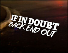 BACK END OUT Car Decal Sticker JDM VW DUB VAG Euro Race Drift Funny