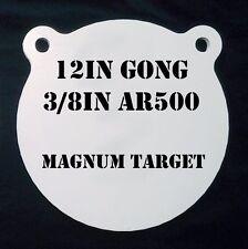 12in.  AR500 Gong Shooting Target - 3/8 Thk Rifle Target - 1pc. Steel Target Set