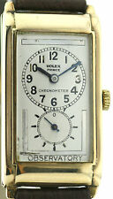 1930's Rolex Prince Chronometer Observatory Doctors Watch 9ct solid Gold