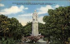 Curaçao Antillen Karibik Mittelamerika AK ~1930 Statue Queen Wilhelmina Estatua