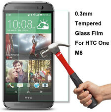 Real High Quality Premium Tempered Glass Film Screen Protector for HTC One M8